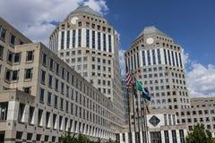 Cincinnati - Circa Mei 2017: Procter & Gok Collectief Hoofdkwartier P&G is een Amerikaans Multinationaal Consumptiegoederenbedrij royalty-vrije stock foto's