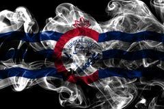Cincinnati city smoke flag, Ohio State, United States Of America.  Stock Photo