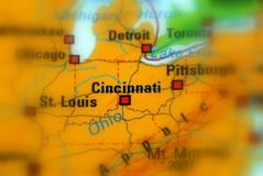 Cincinnati, Ohia - U.S. Cincinnati, city in the U.S. state of Ohio stock image