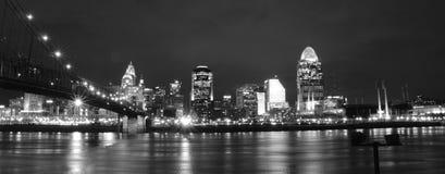 Cincinnati cityscape Fotografering för Bildbyråer
