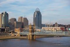 Cincinnati, cityscape van Ohio Stock Foto's