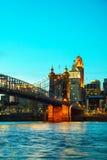 Cincinnati downtown overview Stock Photography