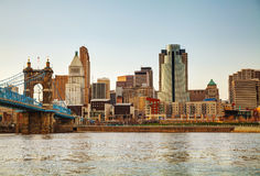 Cincinnati downtown overview Royalty Free Stock Images