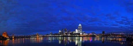 Cincinnati EDITORIALE nelle prime ore del mattino Immagini Stock Libere da Diritti