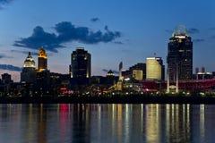 Cincinnati horisont Arkivfoton