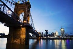 Cincinnati i Rzeka Ohio obrazy stock