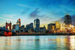 Cincinnati i stadens centrum överblick Royaltyfri Bild