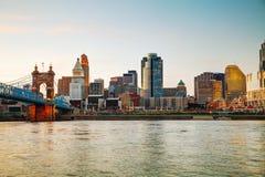 Cincinnati i stadens centrum överblick Royaltyfri Fotografi