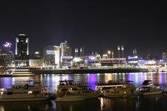 Cincinnati im Stadtzentrum gelegen bis zum Nacht Stockfotografie
