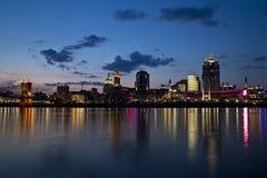 Cincinnati linia horyzontu Zdjęcia Stock