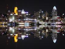 Cincinnati linii horyzontu odbicie Fotografia Royalty Free