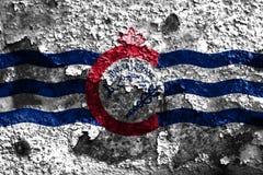 Cincinnati miasta dymu flaga, Ohio stan, Stany Zjednoczone Ameryka obraz royalty free