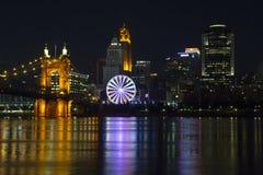 Cincinnati mit SkyStar-Rad stockbilder