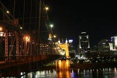 Cincinnati na most John Ohio roebling zawieszenie Roebling zawieszenia most Cicinnati Ohio obrazy royalty free