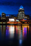 Cincinnati nachts Lizenzfreie Stockfotografie
