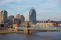 Cincinnati, Ohio cityscape. A view of Cincinnati, Ohio in the United States of America Stock Photos