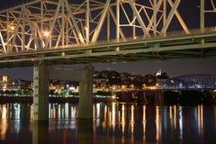 Cincinnati Ohio la nuit Photographie stock libre de droits