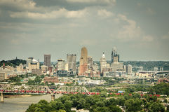 Cincinnati Ohio linia horyzontu obraz royalty free