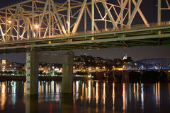 Cincinnati Ohio at Night Royalty Free Stock Photography