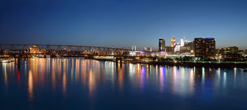 Cincinnati Ohio at Night Stock Photos