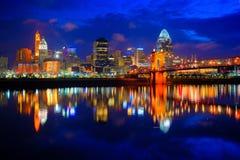 Cincinnati Ohio på soluppgång Arkivfoto