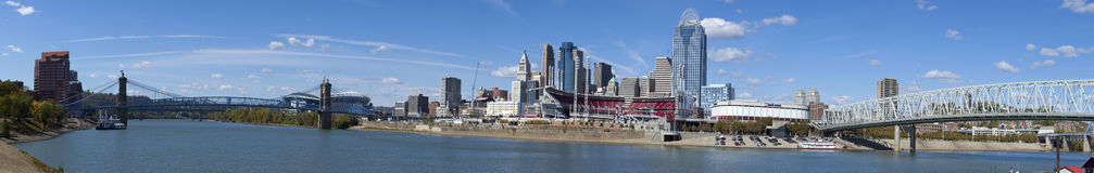 Cincinnati Ohio (panoramico) Fotografia Stock