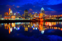 Cincinnati Ohio przy wschodem słońca Zdjęcie Stock