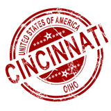 Cincinnati Ohio stamp with white background Royalty Free Stock Photography