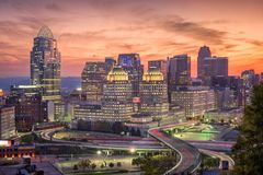 Cincinnati, Ohio, USA stockfotos