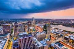 Cincinnati, Ohio, USA. Cityscape at twilight royalty free stock photo