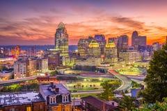 Cincinnati, Ohio, USA Skyline Royalty Free Stock Photos