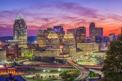 Cincinnati, Ohio, USA Skyline Royalty Free Stock Photography