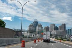 Traveling in Cincinnati royalty free stock image