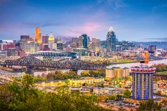 Cincinnati, Ohio, usa linia horyzontu zdjęcie stock