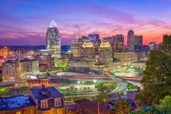 Cincinnati, Ohio, usa linia horyzontu fotografia royalty free