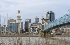 Cincinnati, Ohio/USA- 13 mars 2019 : Vue de touristes d'horizon de Cincinnati image stock