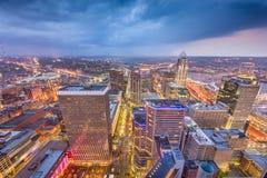 Cincinnati, Ohio, USA Skyline. From above at dusk stock photos