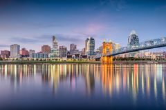 Cincinnati, Ohio, USA Skyline Stock Photo