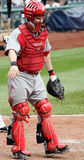 Cincinnati Reds' catcher Ryan Hanigan. Directs the defense during a game Stock Images