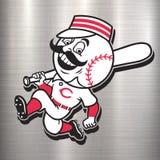 Cincinnati reds logo MLB red metal Stock Images