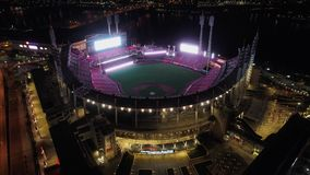Cincinnati Reds Stadium and night stock photos