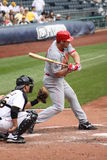 Cincinnati Reds' Third baseman, Scott Rolen. Checks his swing Stock Photo