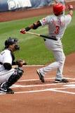 Cincinnati Reds'Willie Taveras. Cincinnati Reds' Willie Taveras batting during a game Royalty Free Stock Images