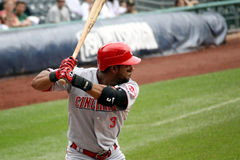 Cincinnati Reds'Willie Taveras Photographie stock