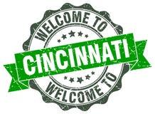 Cincinnati round ribbon seal Stock Photo