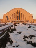Cincinnati's Union Terminal. Cincinnati's classic train station near sunrise on a snowy winter morning Stock Photography