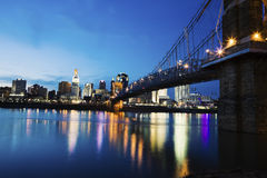 Cincinnati seen accross Ohio River Royalty Free Stock Image