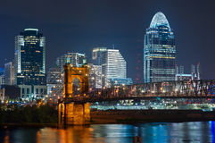 Cincinnati skyline. Stock Photos