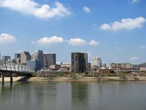 Cincinnati skyline  Royalty Free Stock Photography
