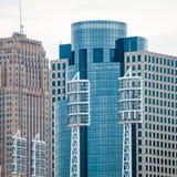 Cincinnati skyline on cloudy  day Stock Image
